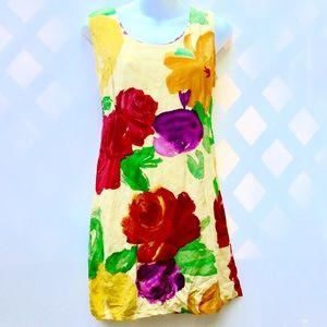Jams World Rose Floral  Midi Sun Dress  size 11